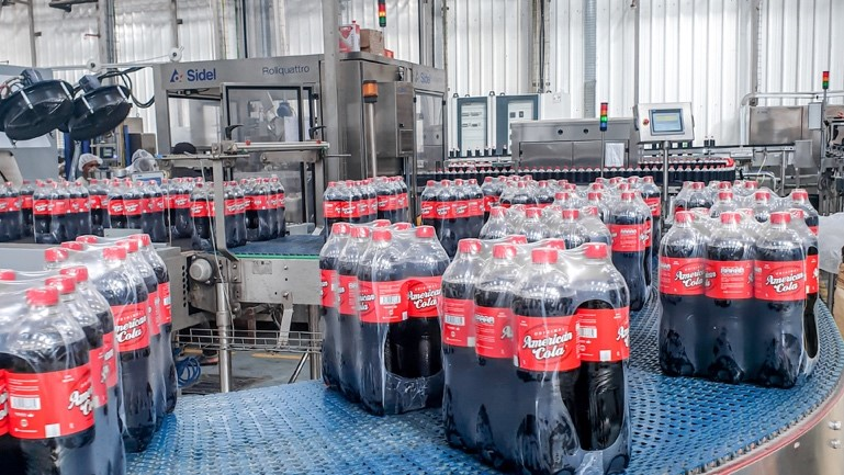 Rapid launch of a new 1L bottle on a Guinean line thanks to Sidel remote services