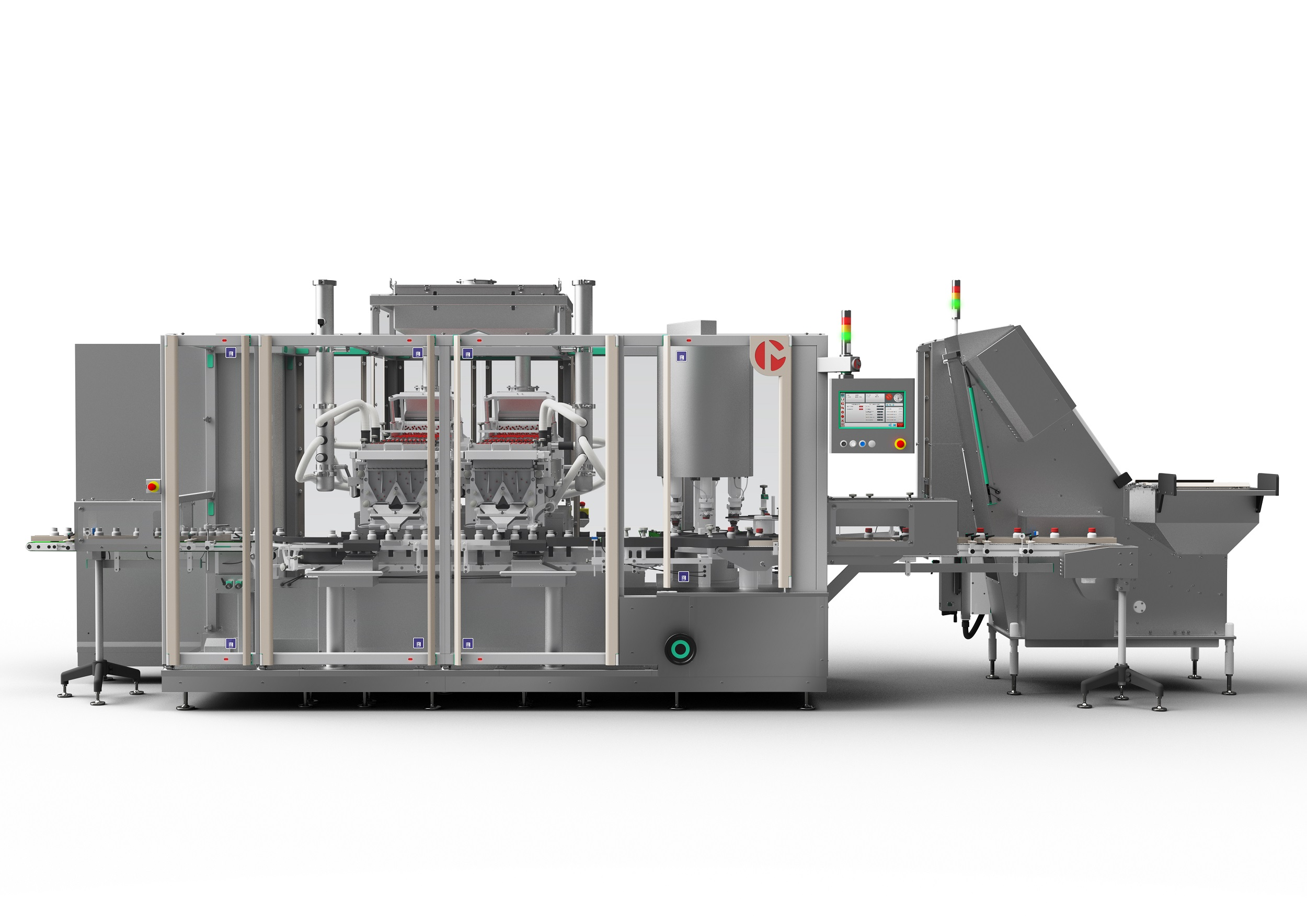 Pack Expo Las Vegas: Marchesini Group presents a monobloc machine for counting and capping plus a processing solution for the American market.