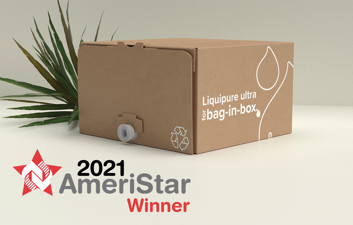 Sustainable bag-in-box solution from Liquibox wins Ameristar Award