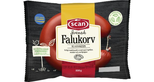 Sweden's best-selling sausages switch to paper-based pack by Mondi