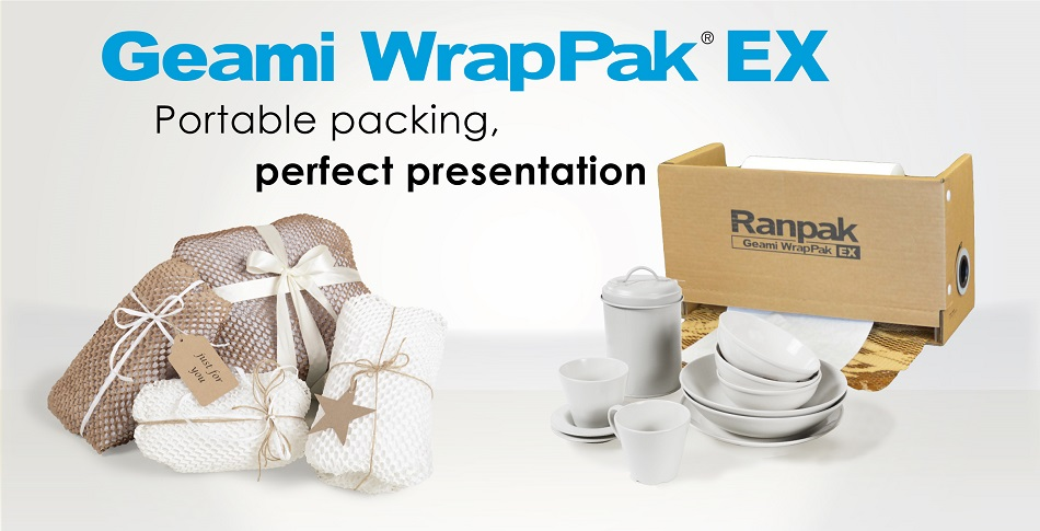 Geami® WrapPak® EX  truly retail-ready wrapping for ceramics