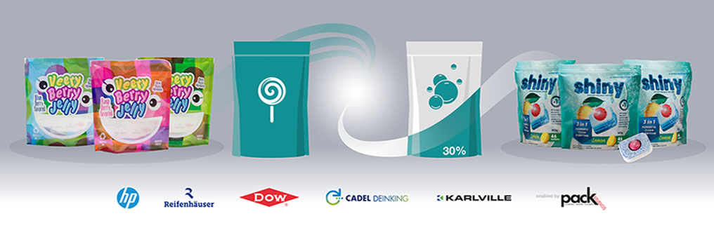 Dow, HP, Reifenhäuser, Cadel Deinking, and Karlville combine forces to recycle PE-based barrier pouch into new high-quality PE pouch suitable for repeat recycling